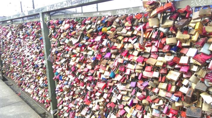 Hohenzollern bridge - love padlocks