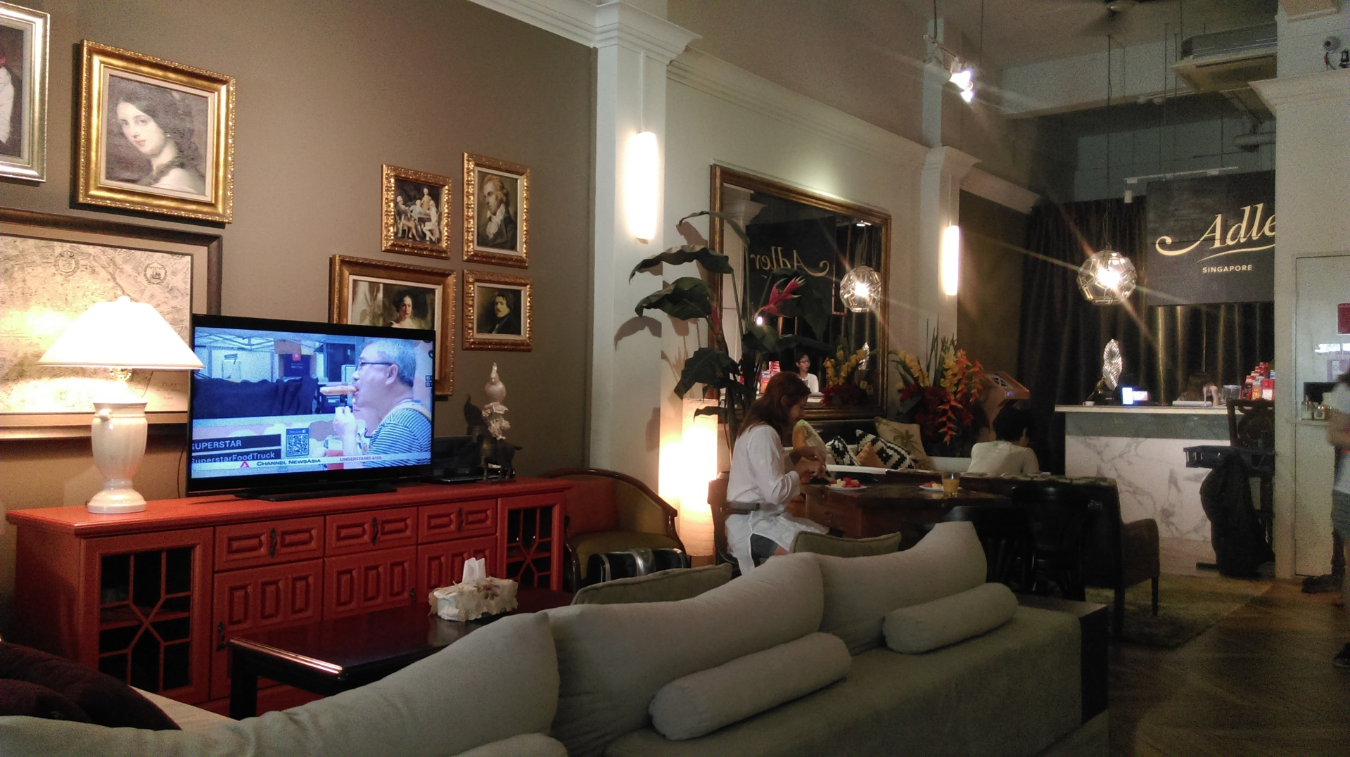 Adler hostel lobby