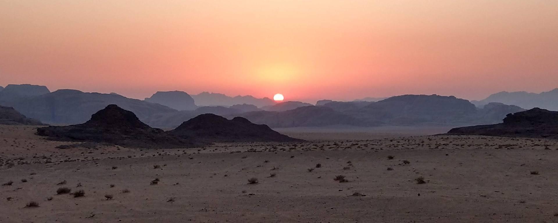 Sunset on Wadi Rum