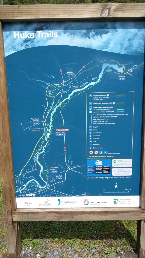 Huka Trails map